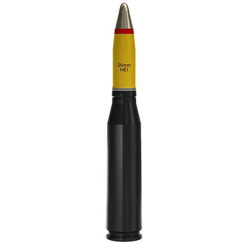 20x128mm AEI Altoexplosivo Incendiário (HEI)