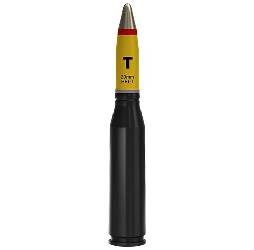 20x128mm AEI-T Altoexplosivo Incendiário Traçante (HEI-T)