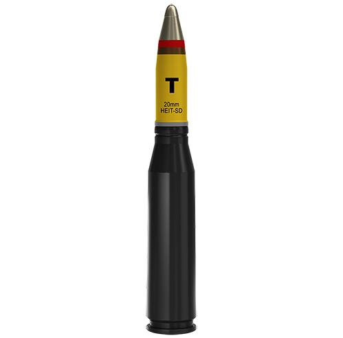 20x128mm AEIT-AD Altoexplosivo Incendiário Traçante com Autodestruição (HEIT-SD)
