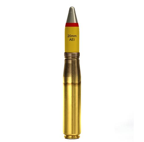 20x110mm AEI Altoexplosivo Incendiário (HEI) M74E1