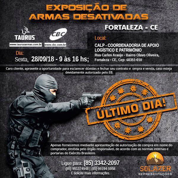 Exposição de armas da Taurus em Fortaleza