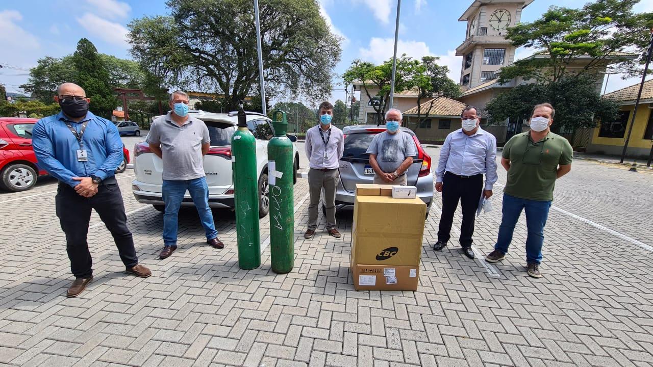 Sufocada, Ribeirão recebe doação de nove respiradores.