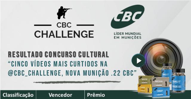 CBC divulga resultado do concurso de vídeos com as novas munições .22